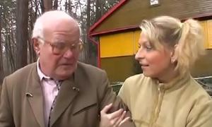 Horny old grandpa licks enjoyable calvous teen pussy powerfully