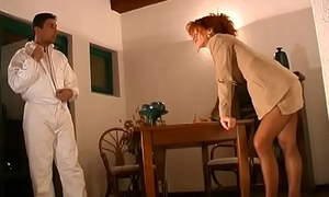 Cute redhead milf group-fucked unconnected with co-conspirator